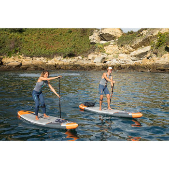 """INFLATABLE TOURING STAND UP PADDLE BOARD 500/12'6-29"""" ORANGE"""