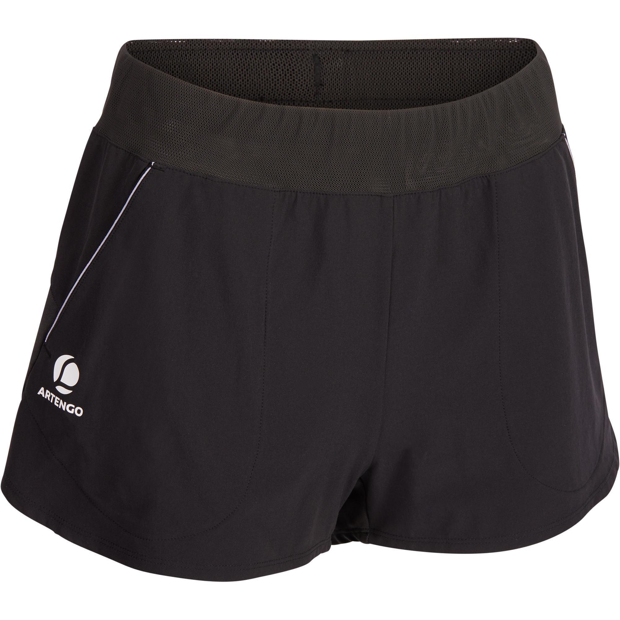 Artengo Tennisshort dames SH Soft 500 zwart