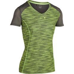 T-Shirt Soft 500 Tennisshirt Damen kaki meliert