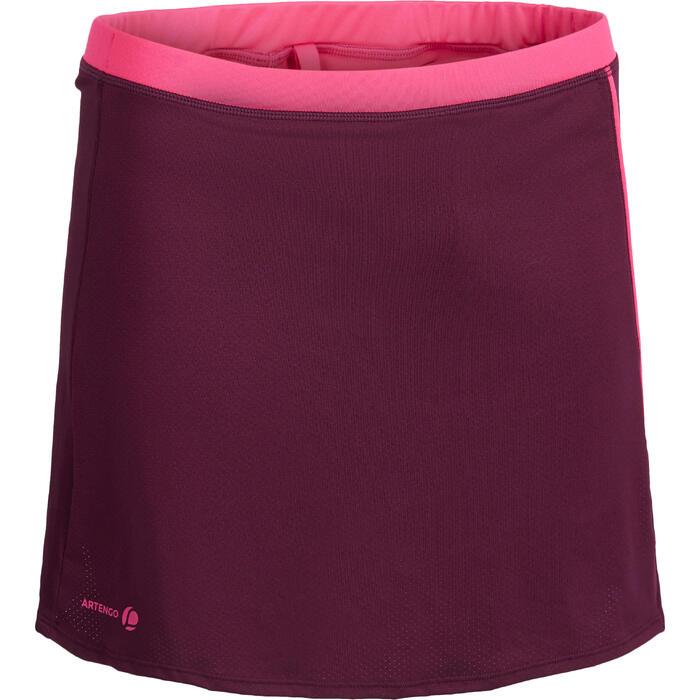 Tennisrock Soft 500 Damen bordeaux