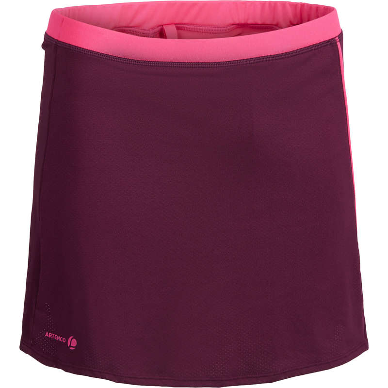 WOMEN WARM CONDITION RACKET SP APAREL - Soft 500 Skirt - Burgundy ARTENGO