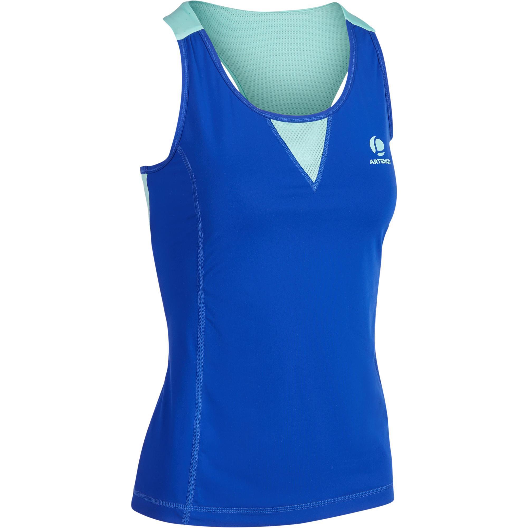 Tennis-Top Light 990 Damen blau   Sportbekleidung > Sporttops > Tennistops   Blau - Grün - Türkis - Schwarz   Artengo