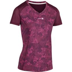 T SHIRT DE TENNIS FEMME SOFT BORDEAUX 500