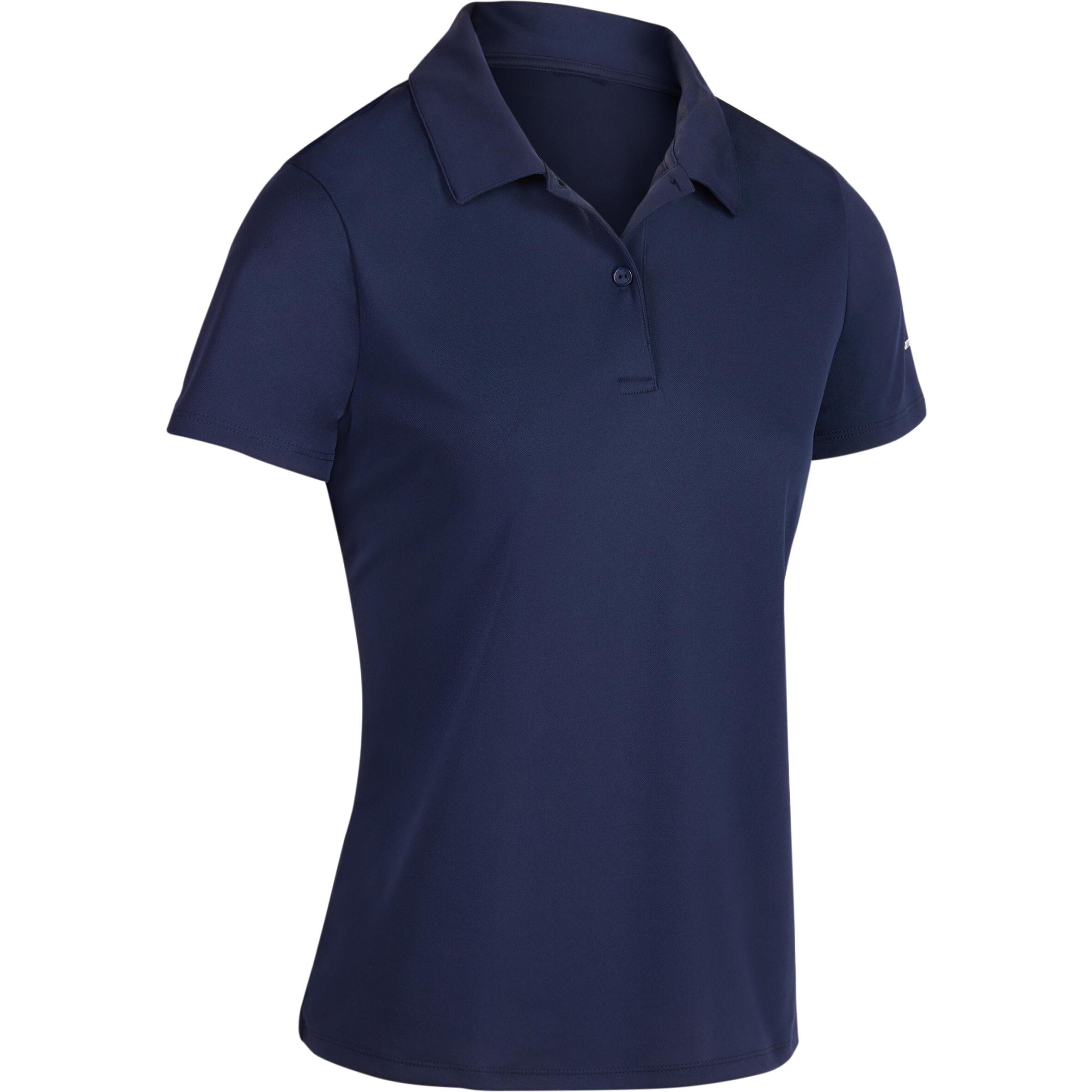Essential Women's Tennis Badminton Table Tennis Padel Squash Polo Shirt - Navy