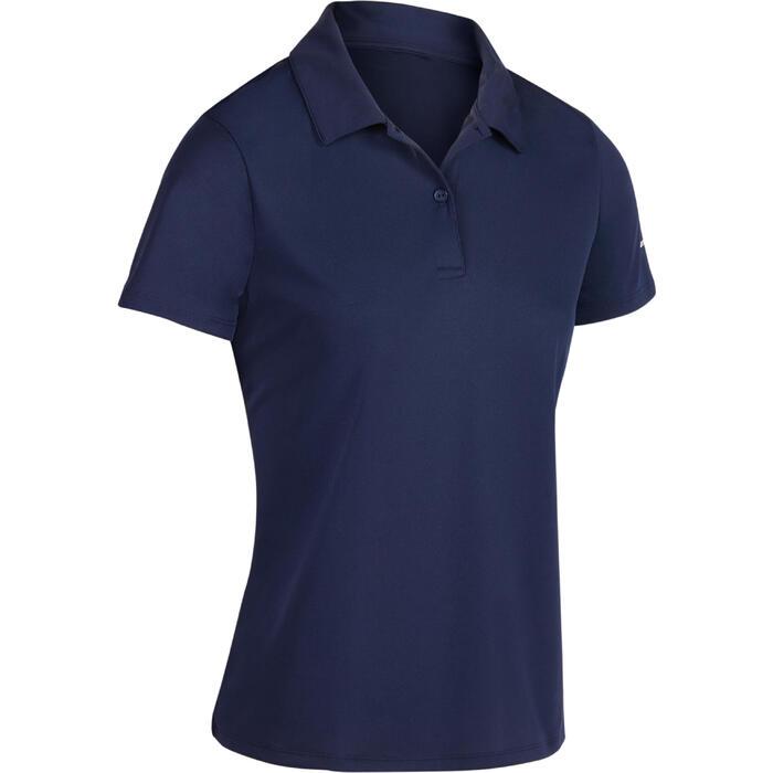 Tennispolo dames Essentiel 100 marineblauw