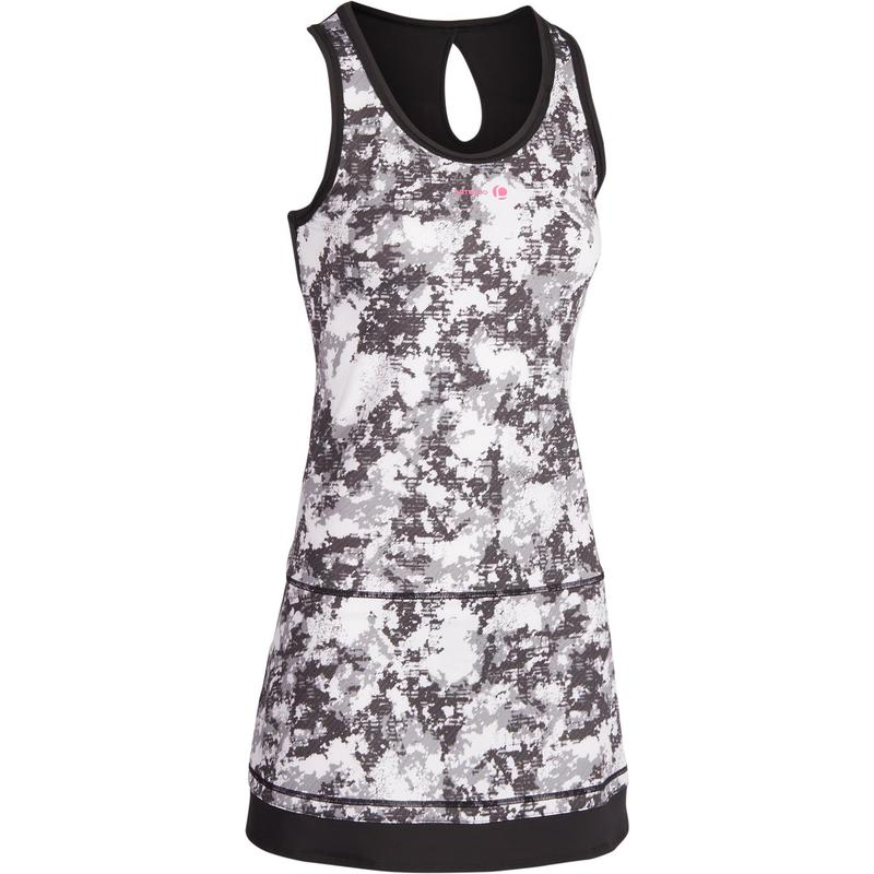 205c8ee5be8b Vestito tennis donna SOFT 500 nero