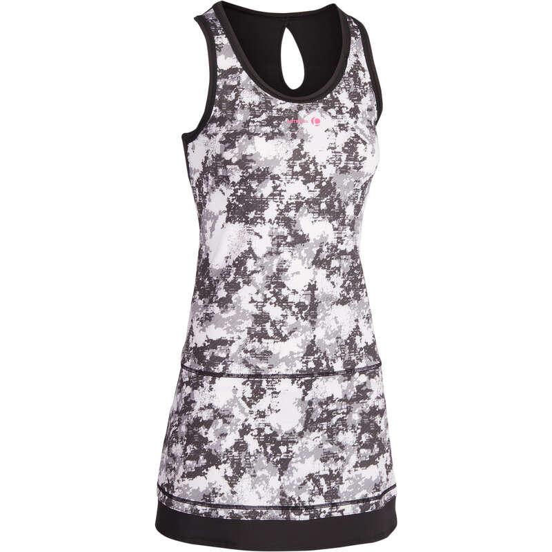WOMEN WARM CONDITION RACKET SP APAREL - Soft 500 Dress - Graphic Black ARTENGO