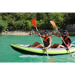 INFLATABLE 1 2 SEAT CANOE KAYAK BLUE