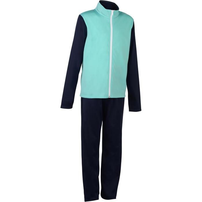 Trainingspak GYM'Y warm, synthetisch ademend S500 meisjes GYM KINDEREN blauw