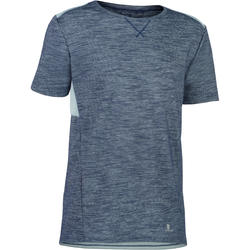 500 Boys' Short-Sleeved Gym T-Shirt - Grey/Blue
