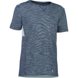 Camiseta manga corta 500 gimnasia niño gris azul