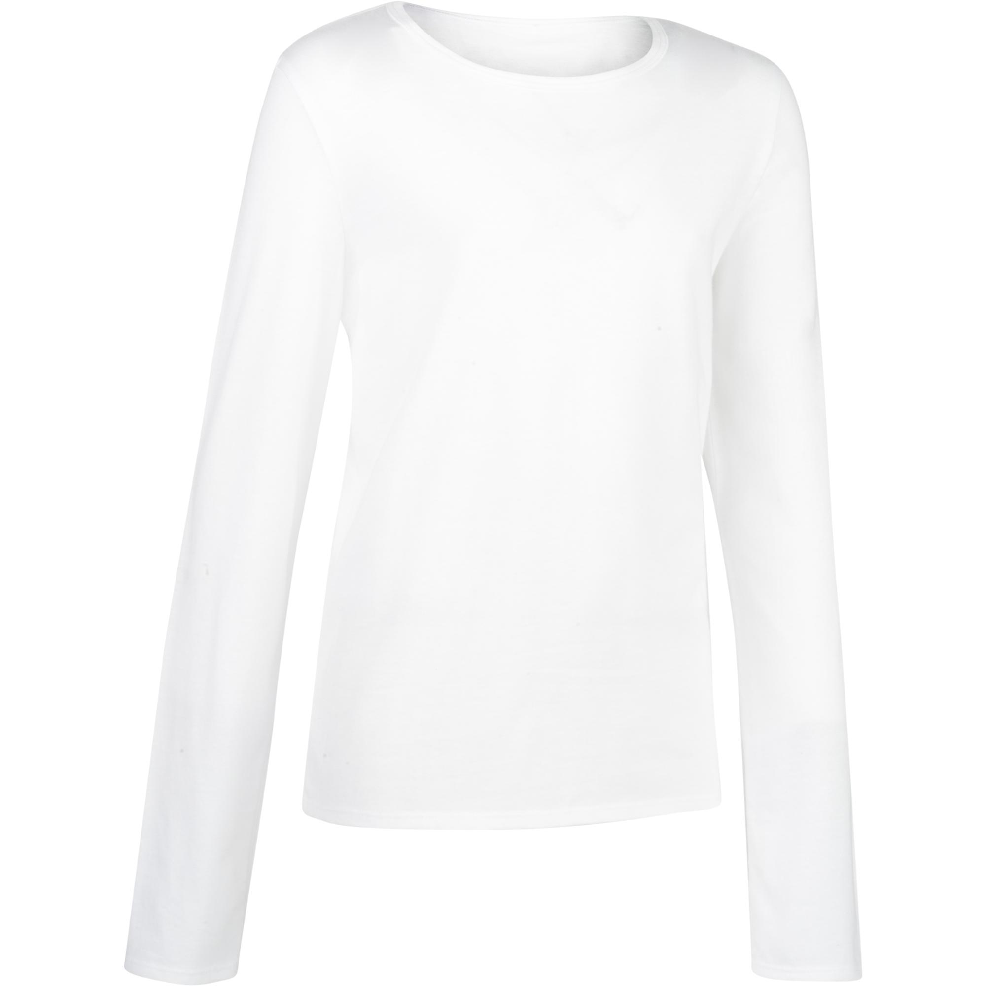 garantía de alta calidad varios estilos gama completa de artículos Ropa infantil - Camiseta de manga larga 100 gimnasia niño blanco