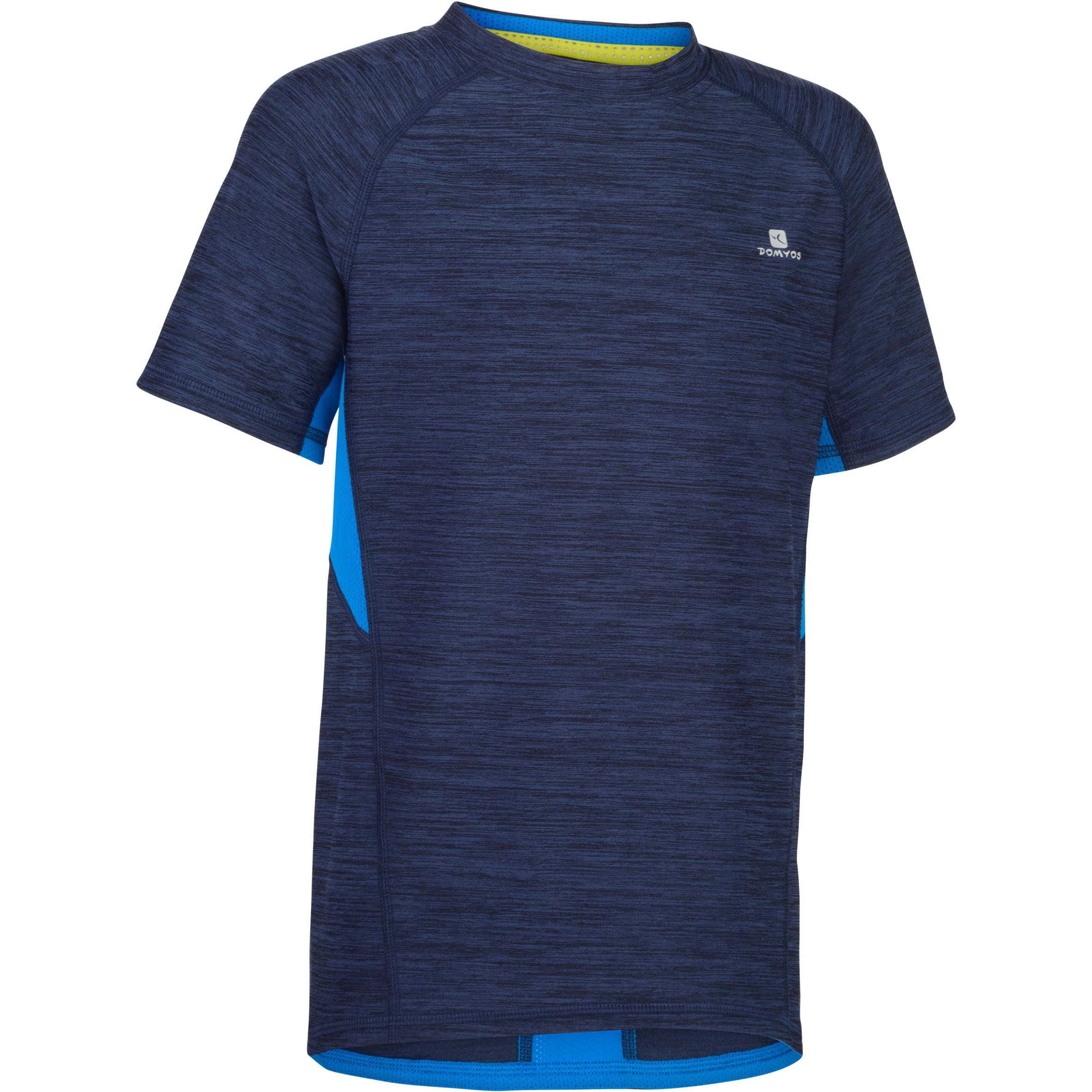 Tee-shirt 960 manches courtes gym garçon marine