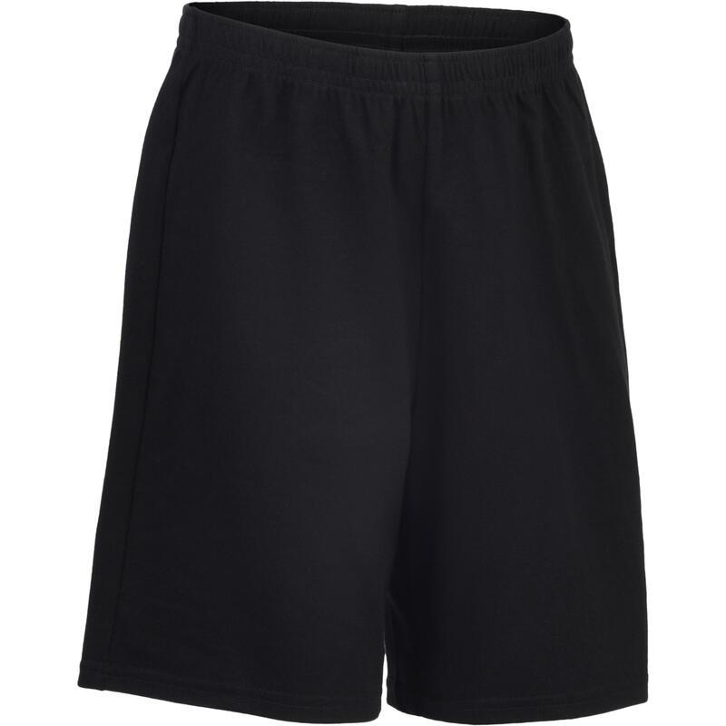 Short basique coton noir ENFANT