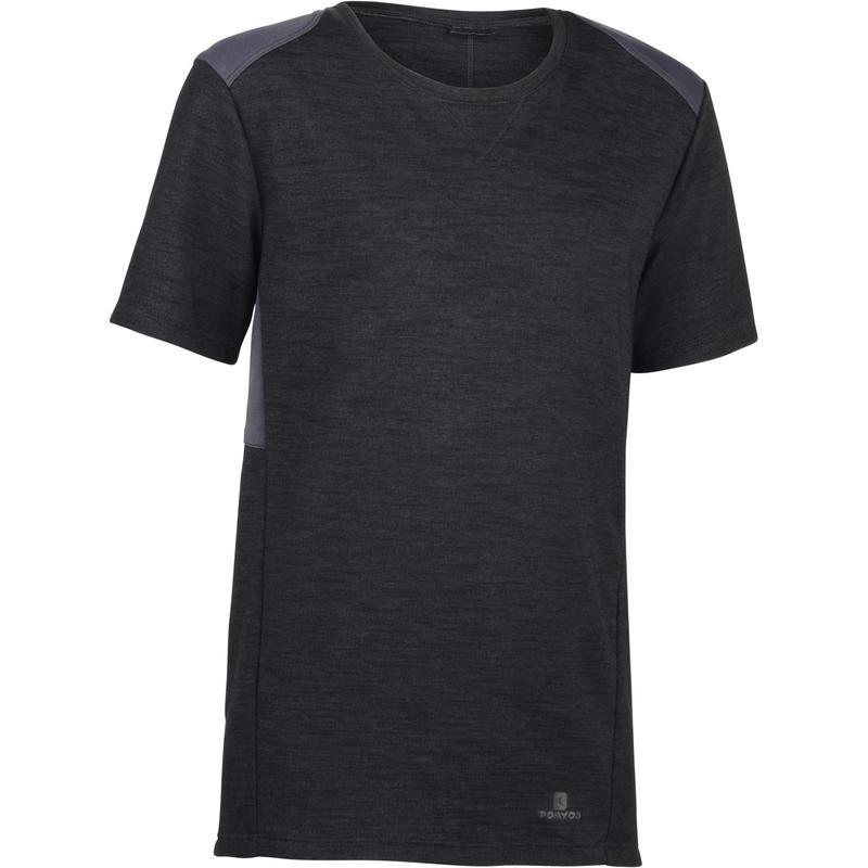 500 Boys' Half-Sleeved Gym T-Shirt - Grey/Black