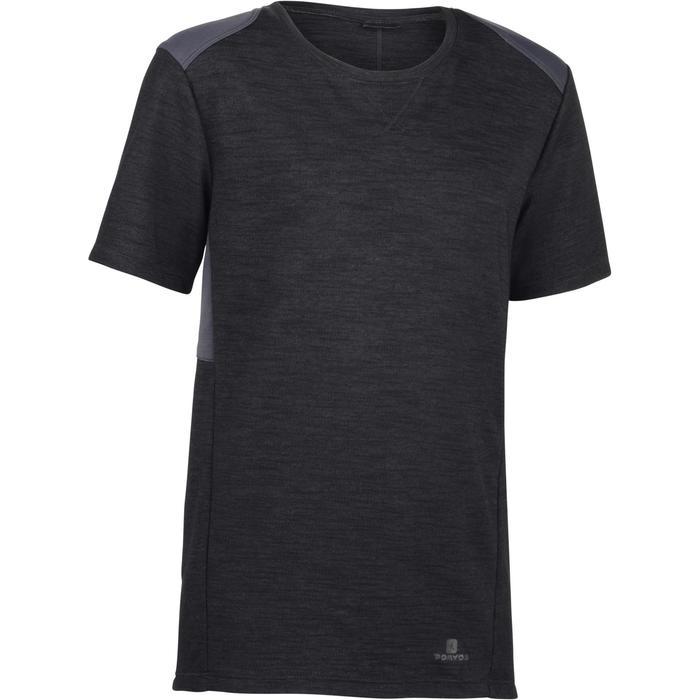 51a27a81a3 Camiseta de manga corta 500 gimnasia niño azul Domyos