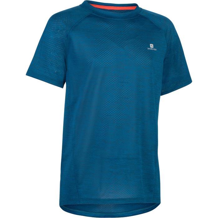 S500 Boys' Short-Sleeved Gym T-Shirt - Blue - 1283465