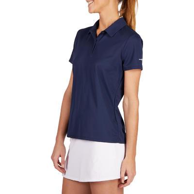 Жіноче поло для тенісу Essential 100 – Темно-синє