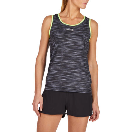 Soft 500 Women's Tennis Tank Top - Mottled Grey