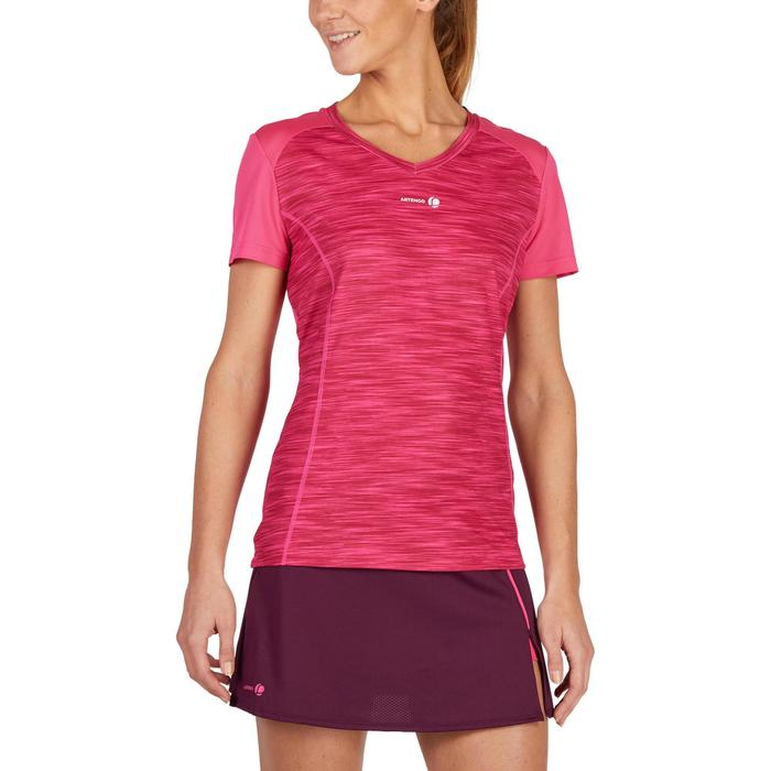 T SHIRT DE TENNIS FEMME SOFT ROSE CHINE 500