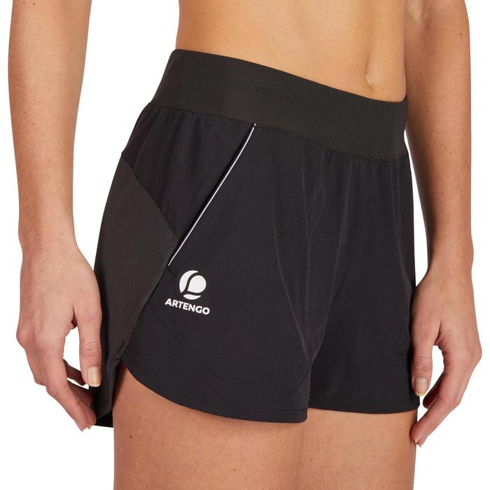 Tennisshort dames SH Soft 500 zwart