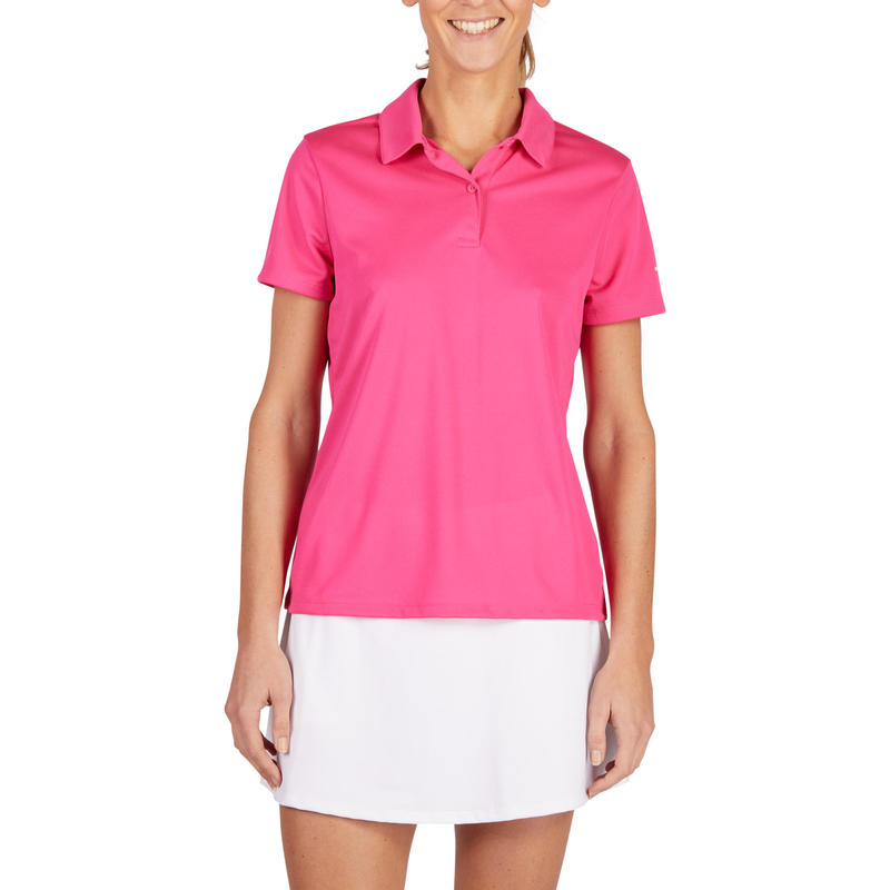 Essential 100 Women's Tennis Polo - Pink