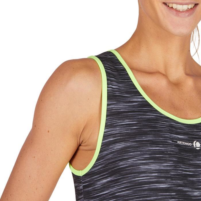 Tennis-Top Soft 500 Damen grau meliert