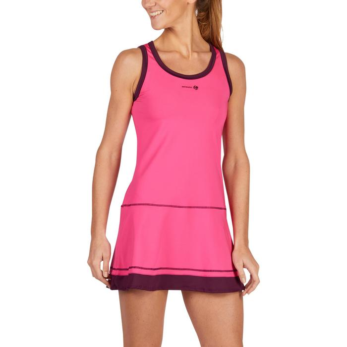 ROBE DE TENNIS SOFT ROSE 500 - 1283707