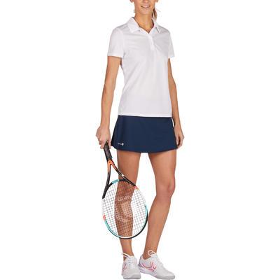 Жіноче поло для тенісу Essential 100 – Біле