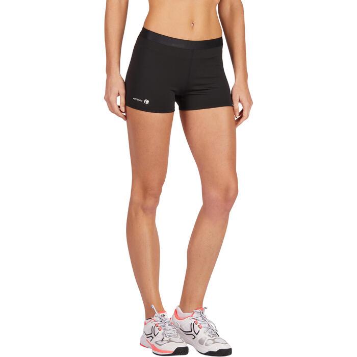 Tennisshortje dames Essential 100 zwart