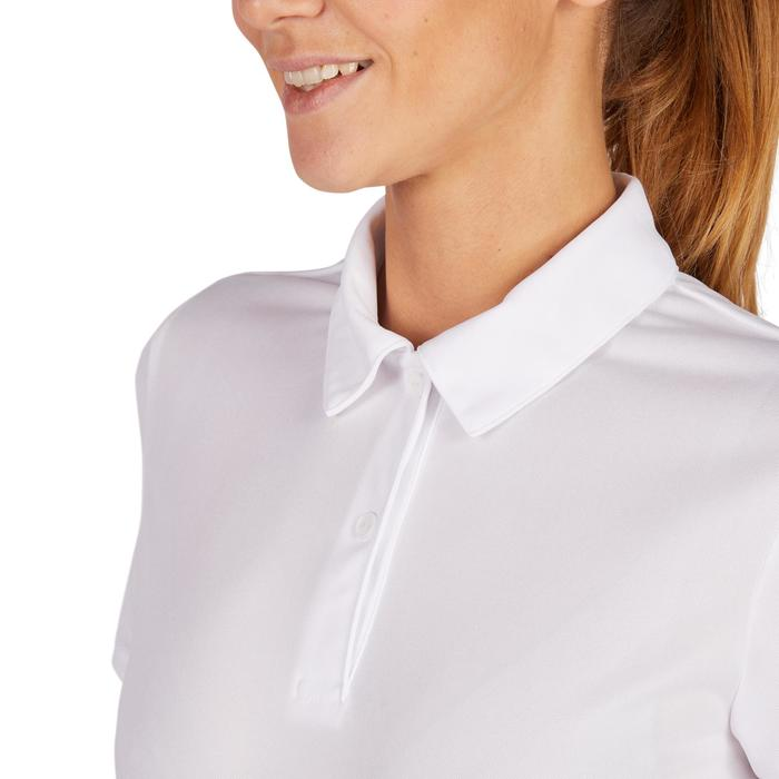 Poloshirt Essentiel 100 Tennis Damen weiß