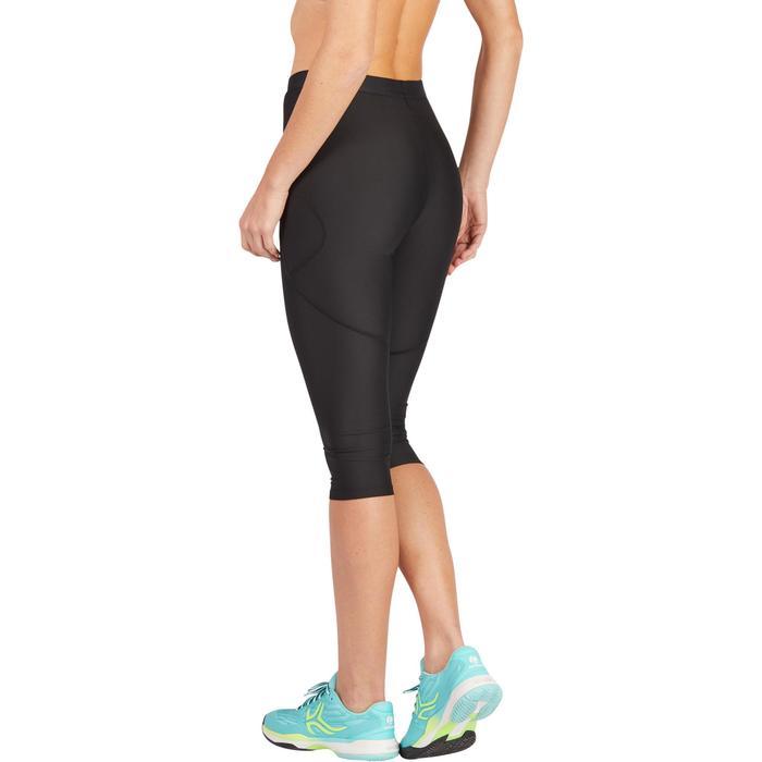 3/4-Hose Leggings Pocket Tennis Damen schwarz