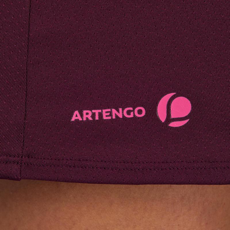 Soft 500 Tennis Skirt - Burgundy