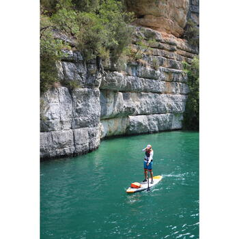 PAGAIE STAND UP PADDLE 900 CARBONE DEMONTABLE REGLABLE 170-210 CM NOIRE