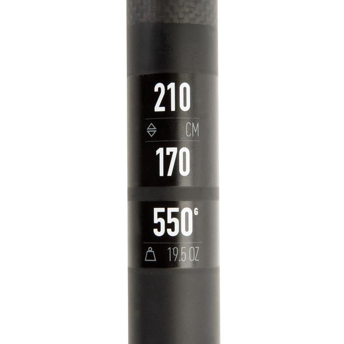 Carbon sup peddel 900 verstelbaar van 170-210 cm zwart