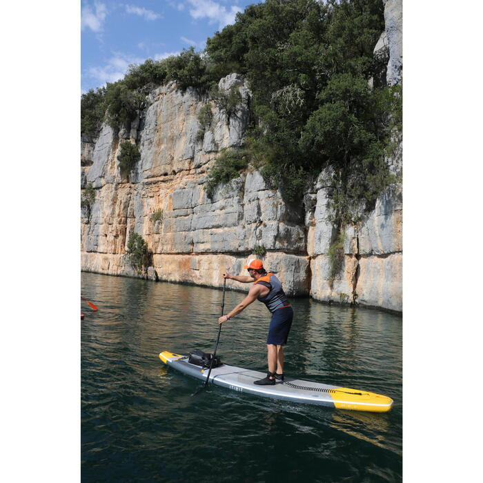 SUP-Paddel 900 Stand Up Paddle verstellbar Carbon 170–210 cm schwarz