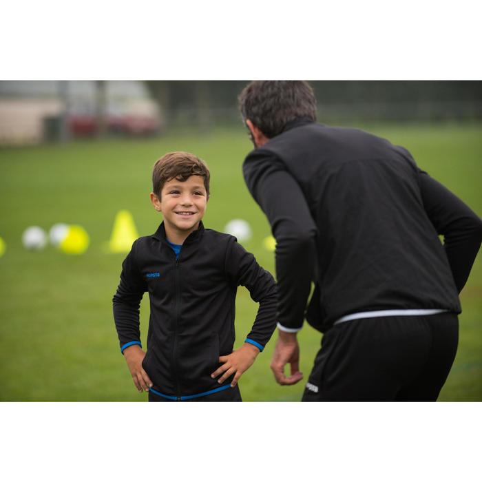 Trainingsjack voetbal kind T100 zwart