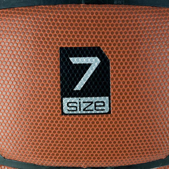 Ballon de basket homme B500 taille 7 marron. Cuir synthétique. - 1284411