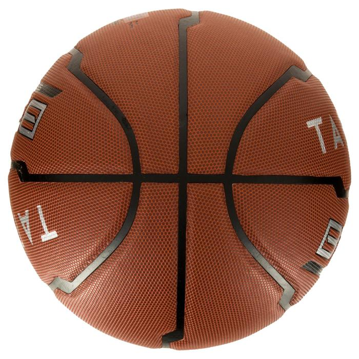 Ballon de basket B500 taille 6 marron. Cuir synthétique. - 1284414