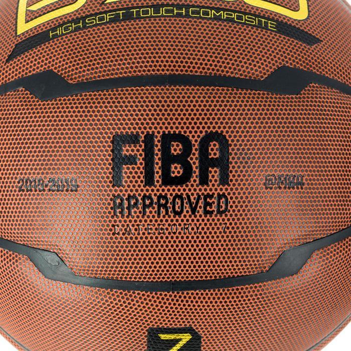 Ballon de basket homme B700 taille 7 marron. Homologué FIBA. Après 12 ans. - 1284416