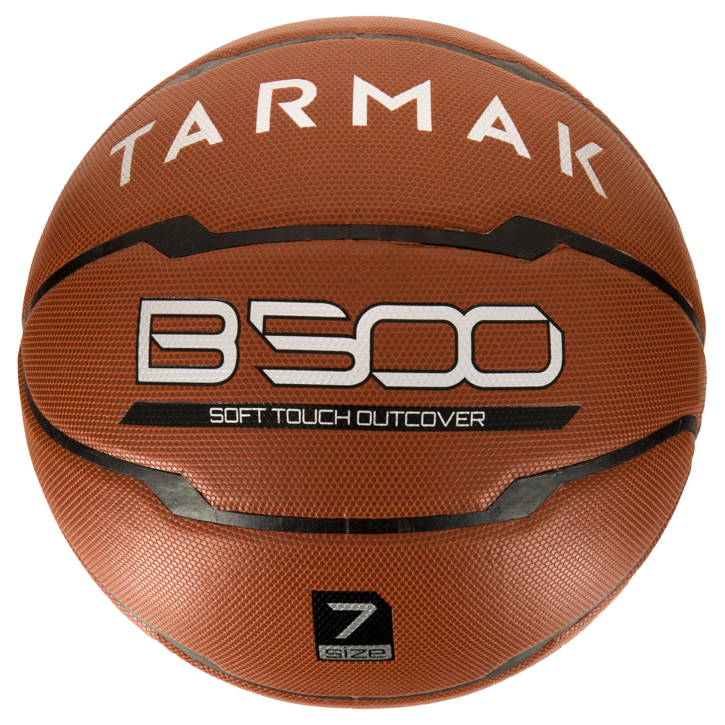 Tarmak Basketbal heren B500 maat 7 bruin. Kunstleer. Vanaf 12 jaar.