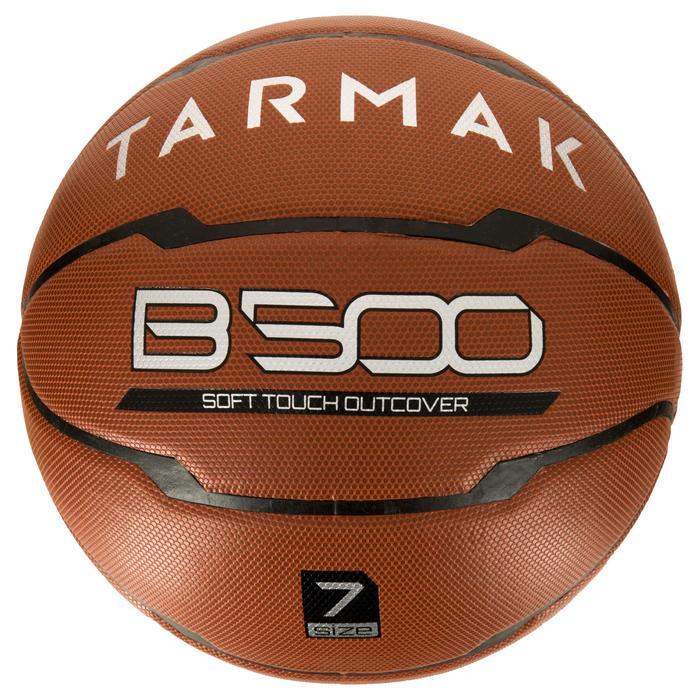 Ballon de basket homme B500 taille 7 marron. Cuir synthétique. - 1284419