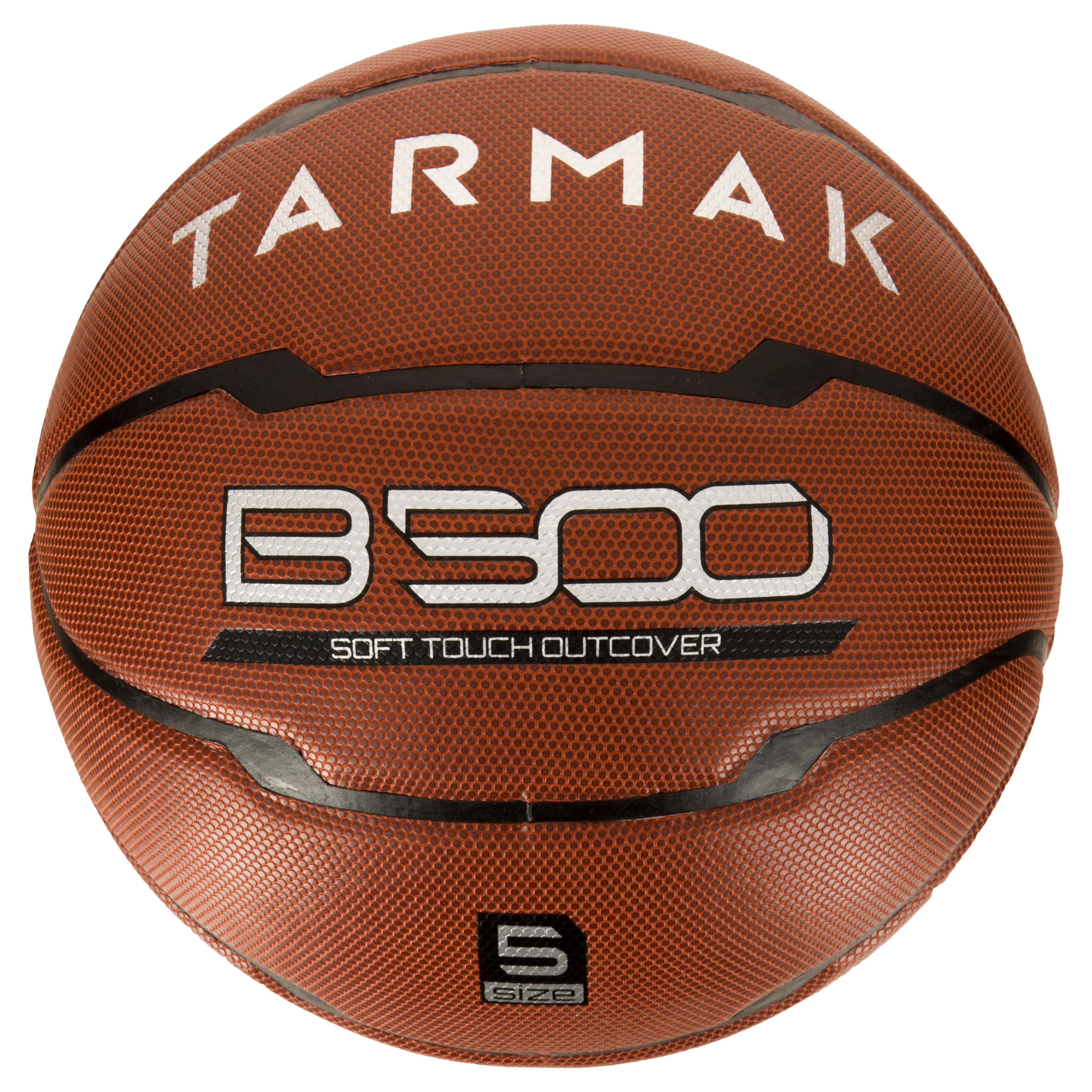 Ballon de basketball enfant B500 taille 5 marron