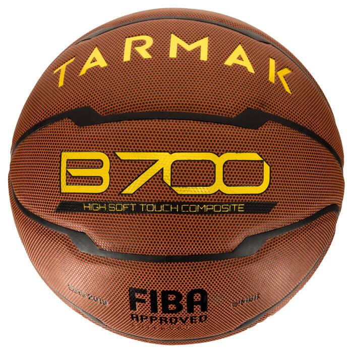Ballon de basket homme B700 taille 7 marron. Homologué FIBA. Après 12 ans. - 1284436