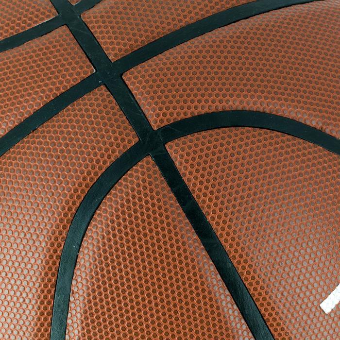 Ballon de basket homme B500 taille 7 marron. Cuir synthétique. - 1284442