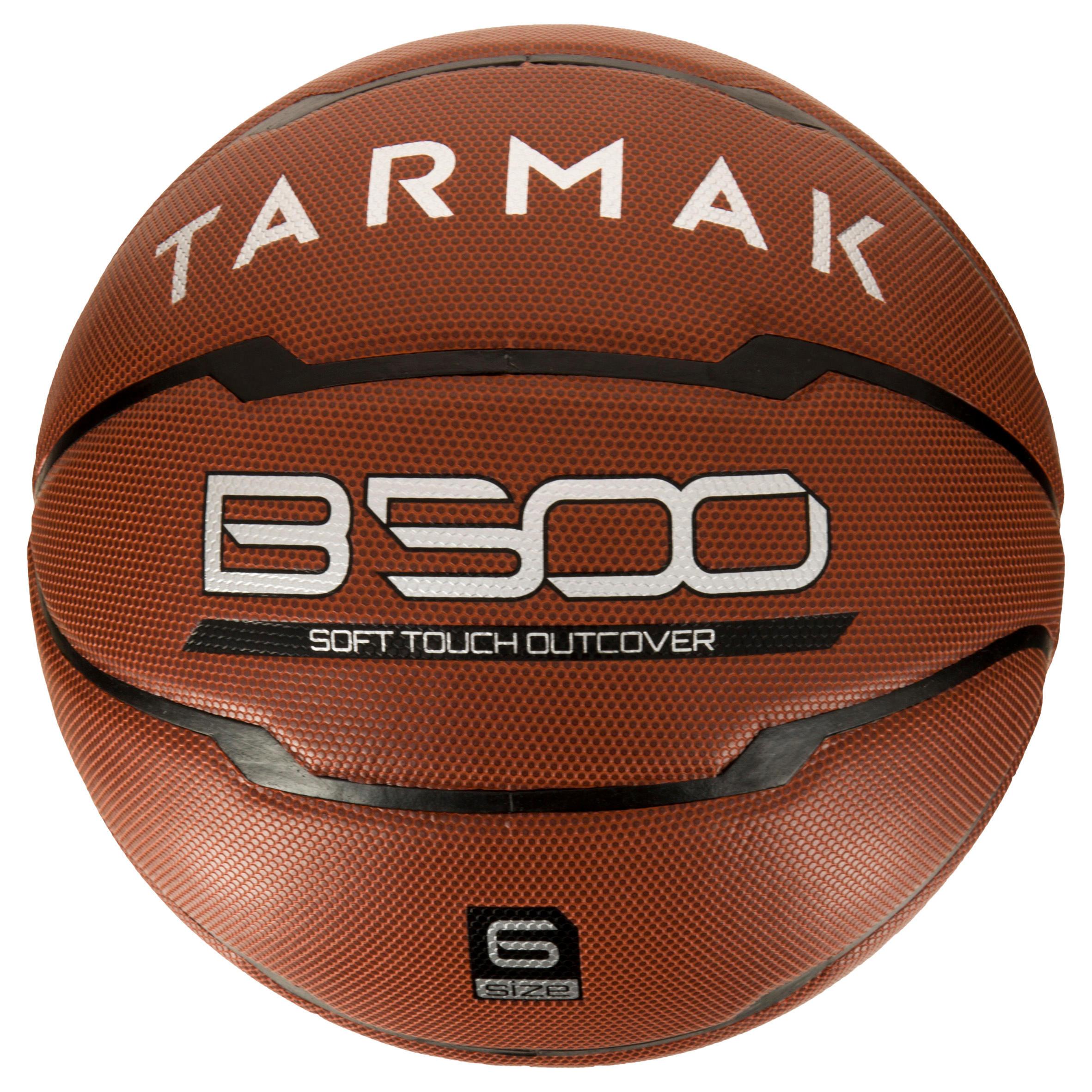 Tarmak Basketbal B500 maat 6 dames bruin. Kunstleer. Vanaf 10 jaar.