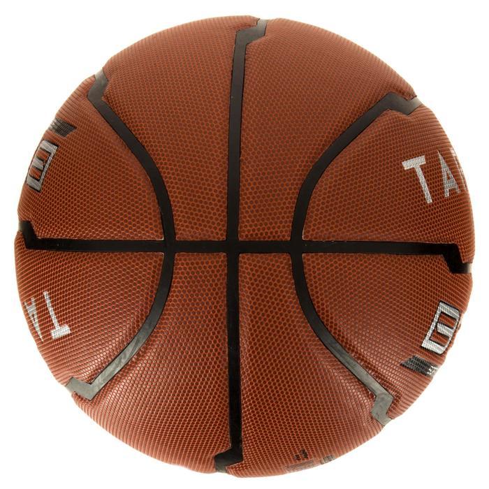 Ballon de basket homme B500 taille 7 marron. Cuir synthétique. - 1284446