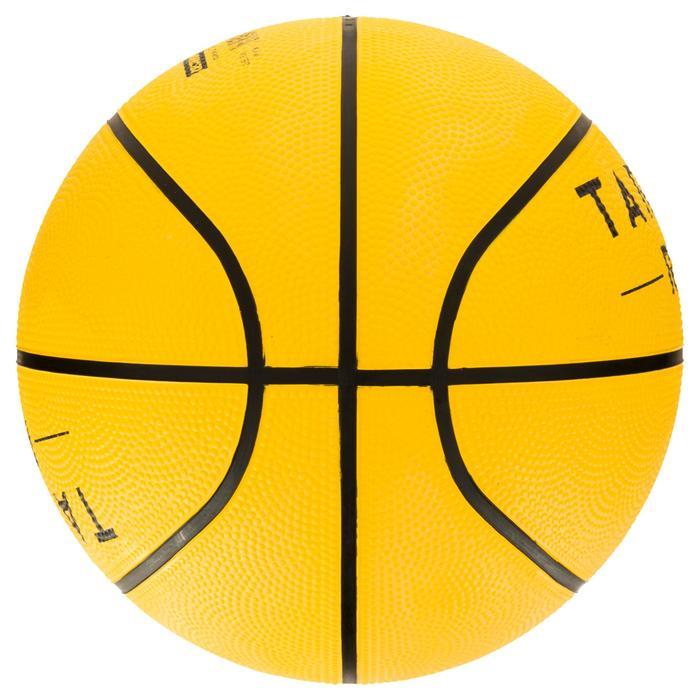 Ballon de basket enfant R100 taille 5 jaune. Résistant. Pour débuter.