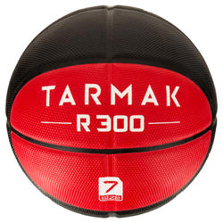 R300 Size 7 Basketball - Black/Red Durable. Ages 14 and up.