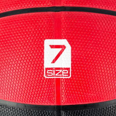 Ballon de basket homme R300 taille 7 noir rouge. Résistant. A partir de 12 ans.